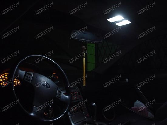 Infiniti - G35 - white - led - map - reading - lights - 1